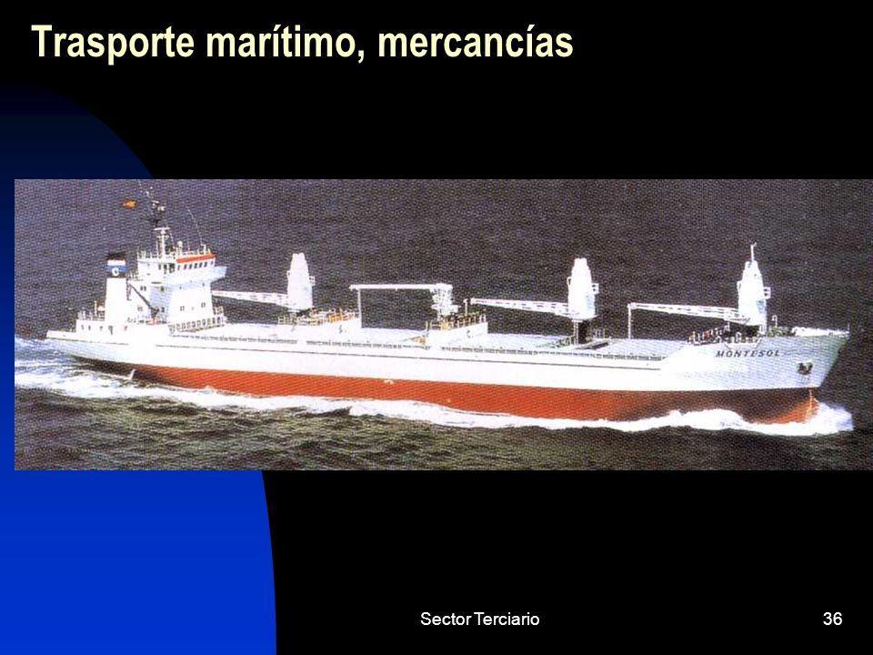 Sector Terciario36 Trasporte marítimo, mercancías