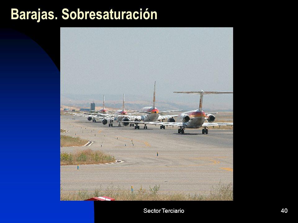 Sector Terciario40 Barajas. Sobresaturación