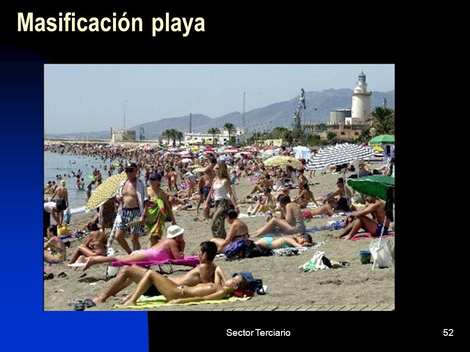 Sector Terciario52 Masificación playa
