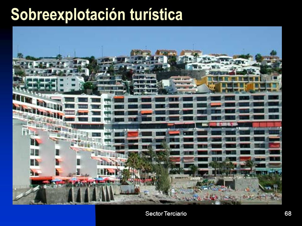 Sector Terciario68 Sobreexplotación turística