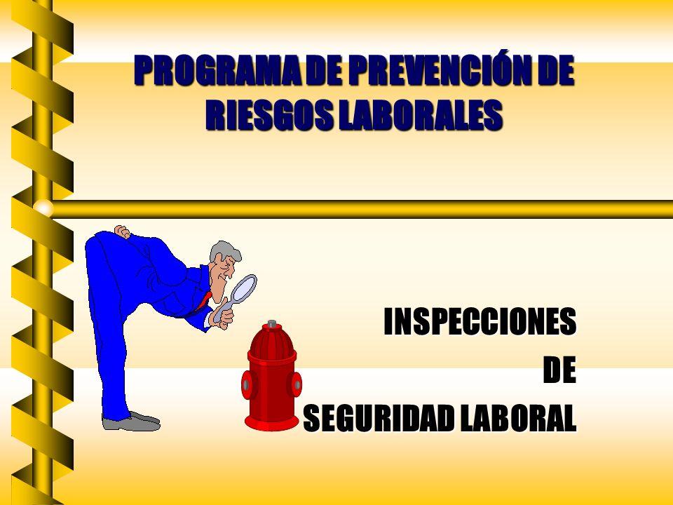 PROGRAMA DE PREVENCIÓN DE RIESGOS LABORALES INSPECCIONESDE SEGURIDAD LABORAL SEGURIDAD LABORAL