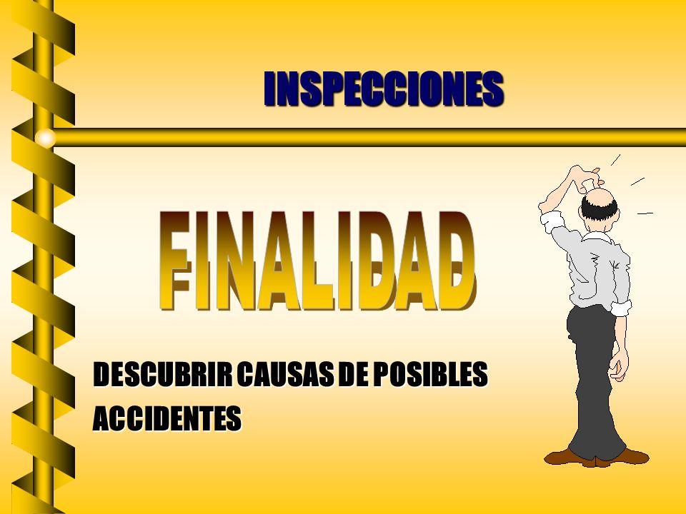 INSPECCIONES DESCUBRIR CAUSAS DE POSIBLES ACCIDENTES