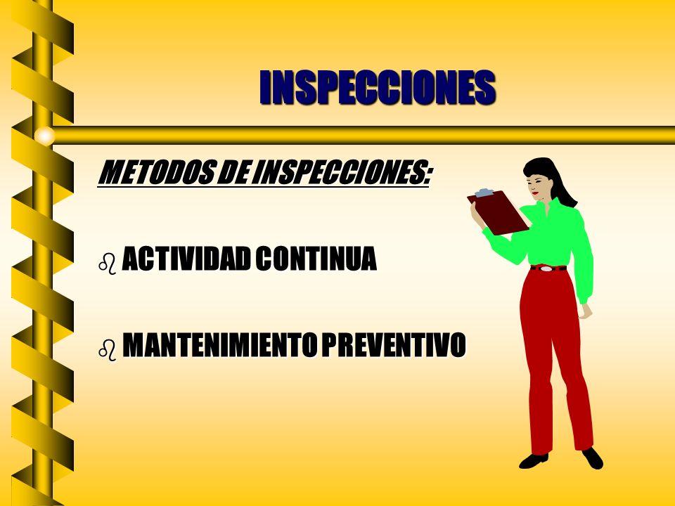 INSPECCIONES b MEJORES RELACCIONES PUBLICAS Y OBRERO PATRONALES b CAPACITACION EN MATERIA DE SEGURIDAD PARA EMPLEADOS