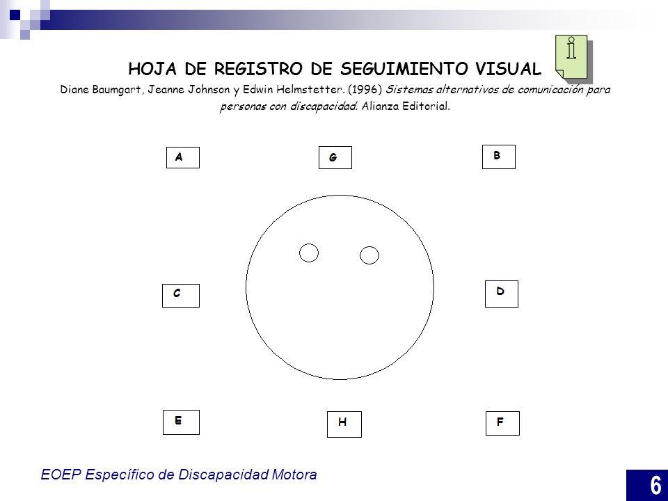7 EOEP Específico de Discapacidad Motora INVENTARIO DE BARRIDO VISUAL 1.