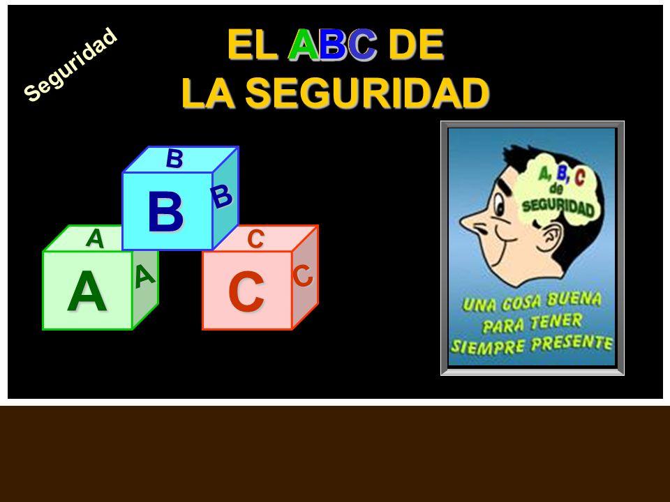 El ABC de la Seguridad EL ABC DE LA SEGURIDAD A A A C C C B B B ABCABCABCABCABCABCABCABCABCABCABCABCABCABC Seguridad