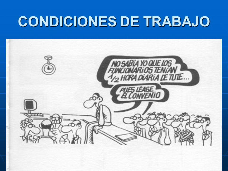 CONDICIONES DE TRABAJO