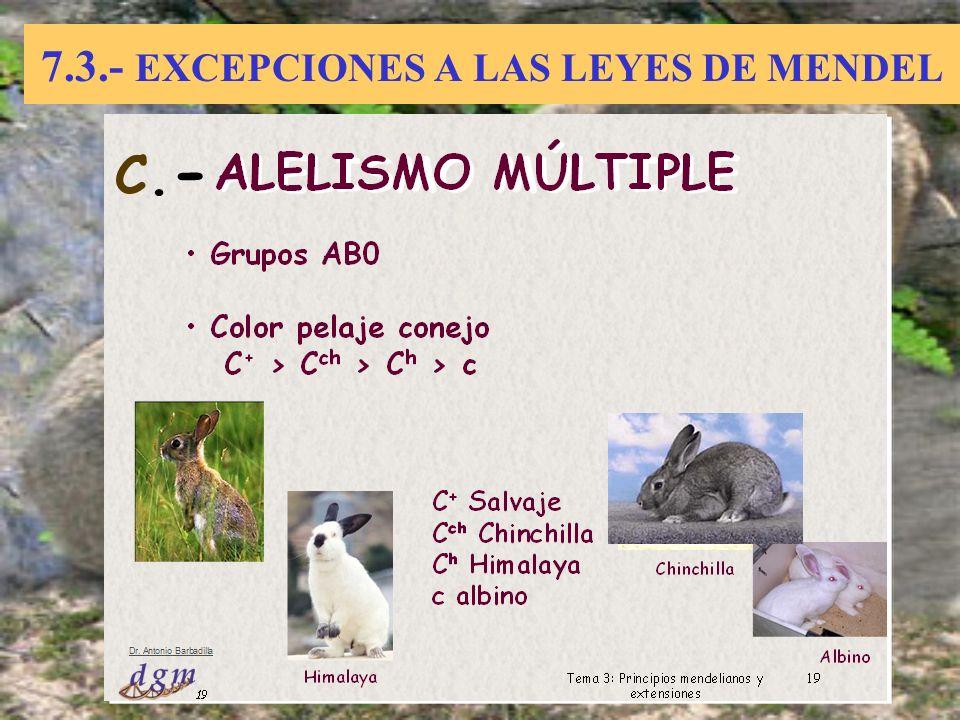 7.3.- EXCEPCIONES A LAS LEYES DE MENDEL C.-C.-