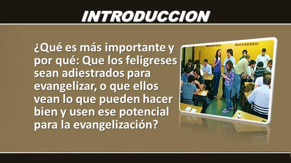 ¿Qué es más importante y por qué: Que los feligreses sean adiestrados para evangelizar, o que ellos vean lo que pueden hacer bien y usen ese potencial