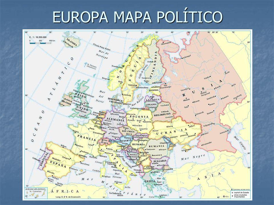 EUROPA MAPA POLÍTICO