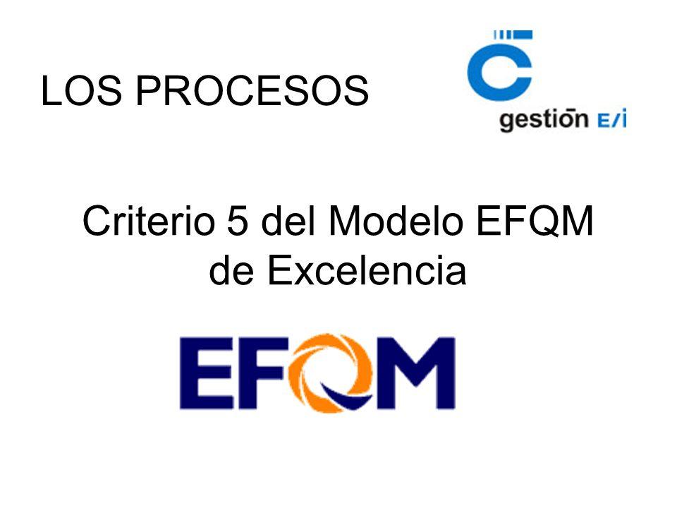 Criterio 5 del Modelo EFQM de Excelencia LOS PROCESOS