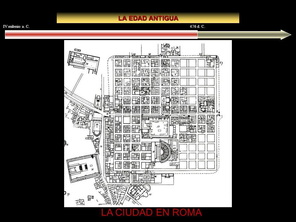 IV milenio a. C.476 d. C. LA EDAD ANTIGUA LA CIUDAD EN ROMA Timgad