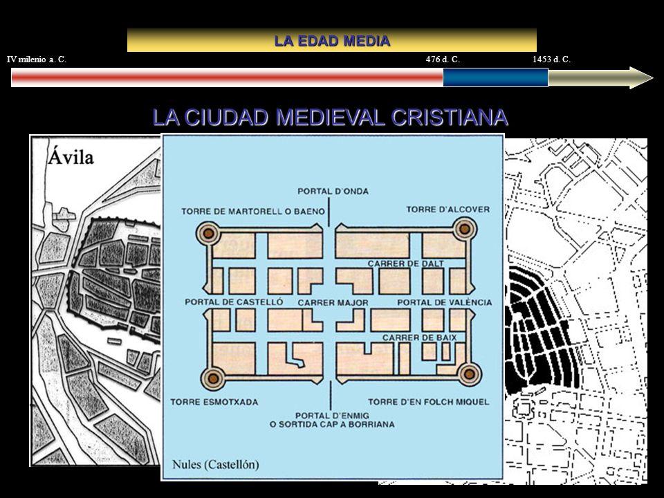 IV milenio a. C.476 d. C.1453 d. C. LA EDAD MEDIA LA CIUDAD MEDIEVAL CRISTIANA