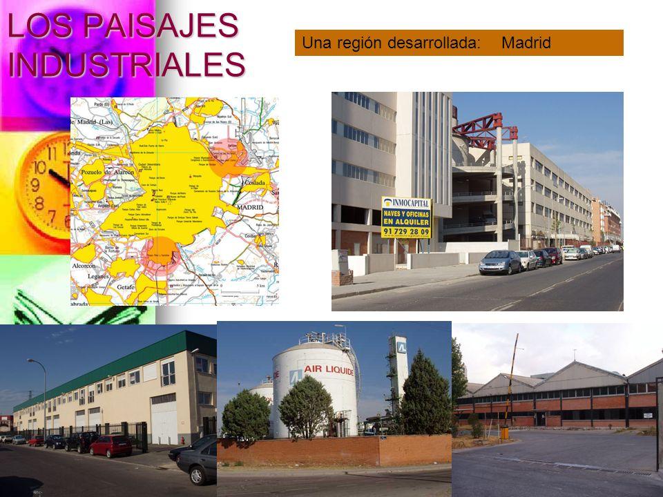LOS PAISAJES INDUSTRIALES Una región desarrollada: Madrid