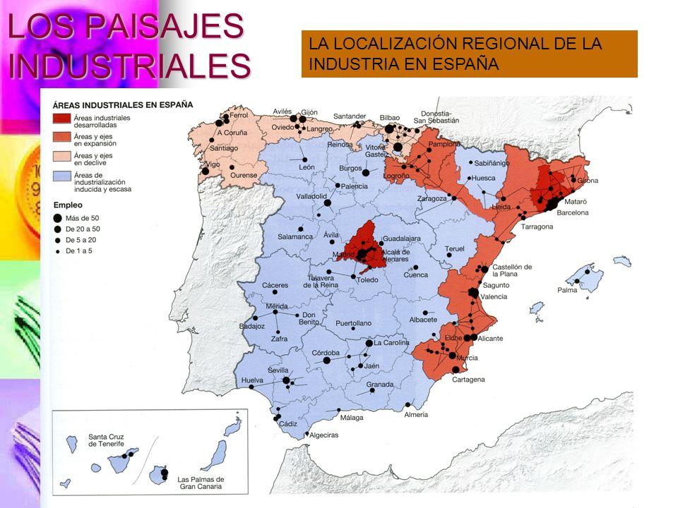 LOS PAISAJES INDUSTRIALES 1.ÁREAS DESARROLLADAS 2.