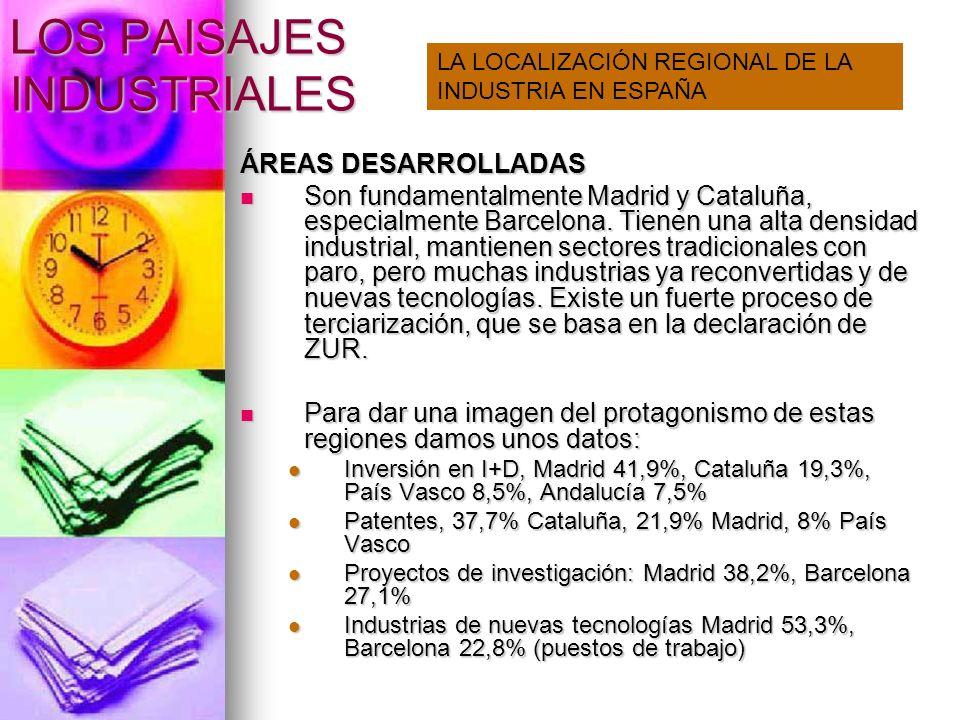 LOS PAISAJES INDUSTRIALES Una región escasamente industrializada: castilla La Mancha