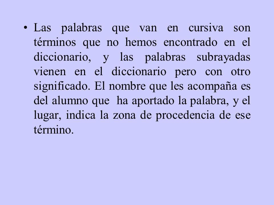Diccionario de San Blas Este pequeño diccionario se pudo realizar gracias a la colaboración de los alumnos de 6º B del curso 2002-03 y de sus familiar