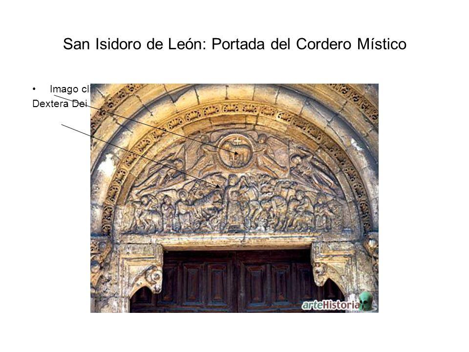 San Isidoro de León: Portada del Cordero Místico Imago clipeata Dextera Dei