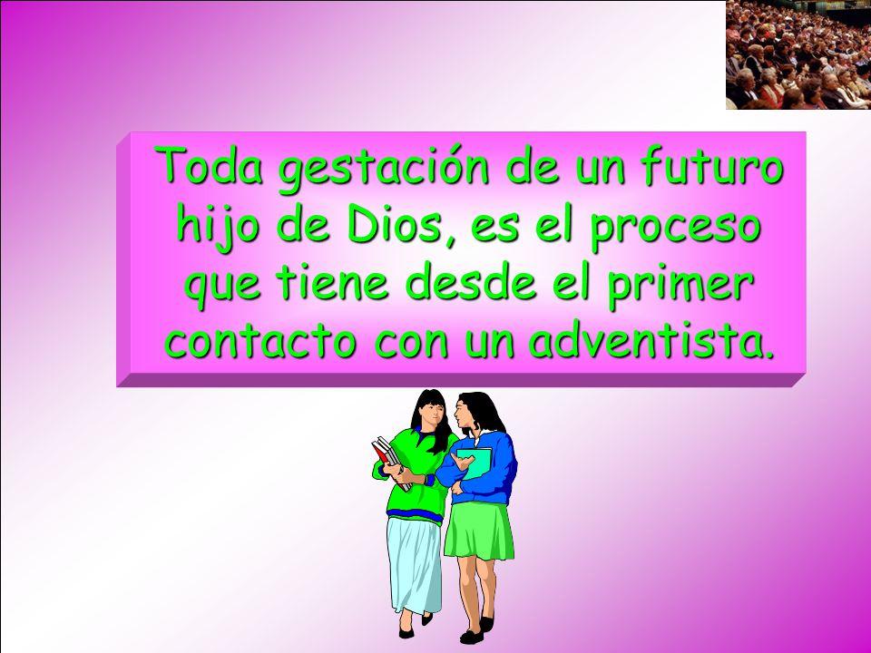 Toda gestación de un futuro hijo de Dios, es el proceso que tiene desde el primer contacto con un adventista.