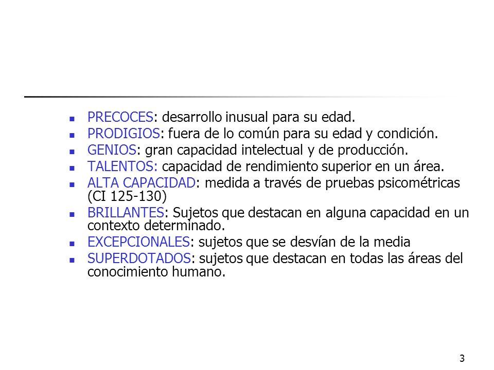 2 Modelos teóricos Características Proceso de identificación Como reconocerlos Ideas erróneas y prejuicios El papel de los padres Programa de Diferenc