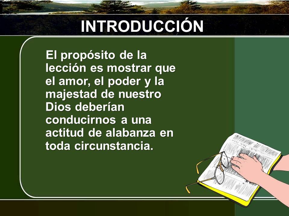 I. Fuente de Bendición II. Fuente de Alabanza BOSQUEJO