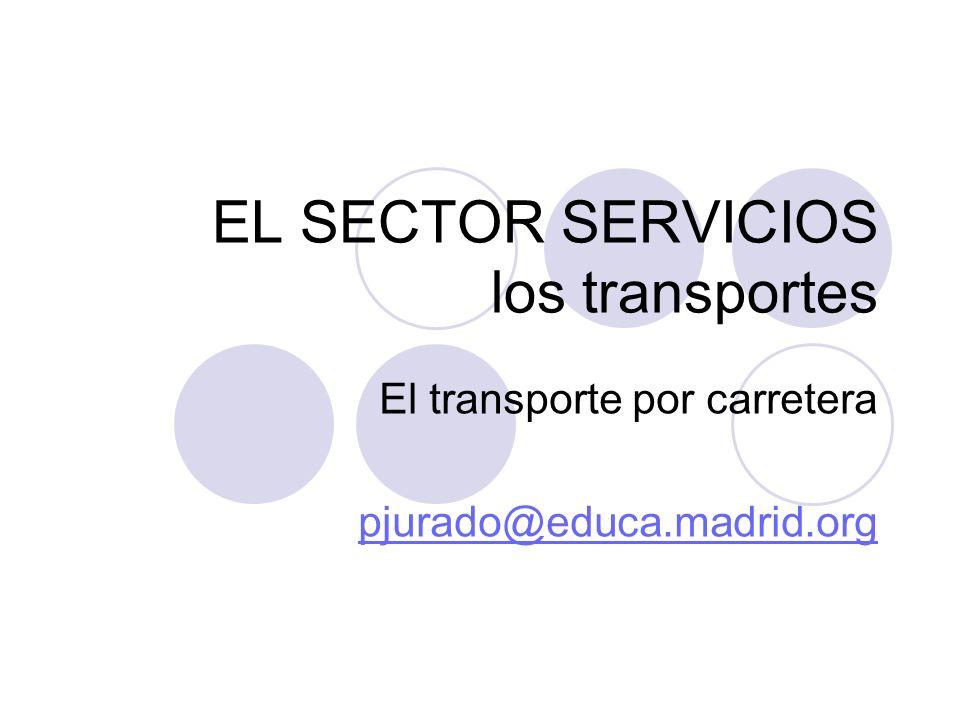 EL SECTOR SERVICIOS los transportes El transporte por carretera pjurado@educa.madrid.org