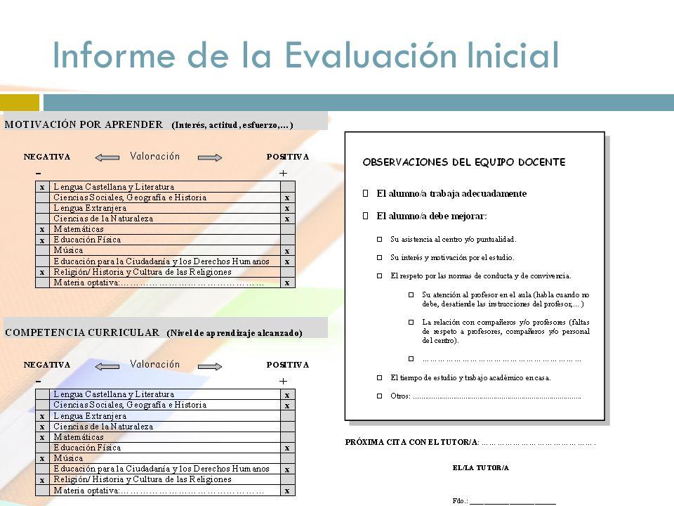 Informe de la Evaluación Inicial