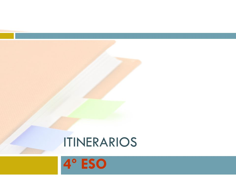 ITINERARIOS 4º ESO