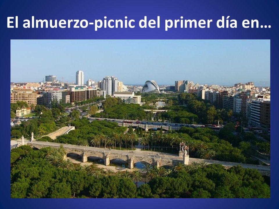 El almuerzo-picnic del primer día en…