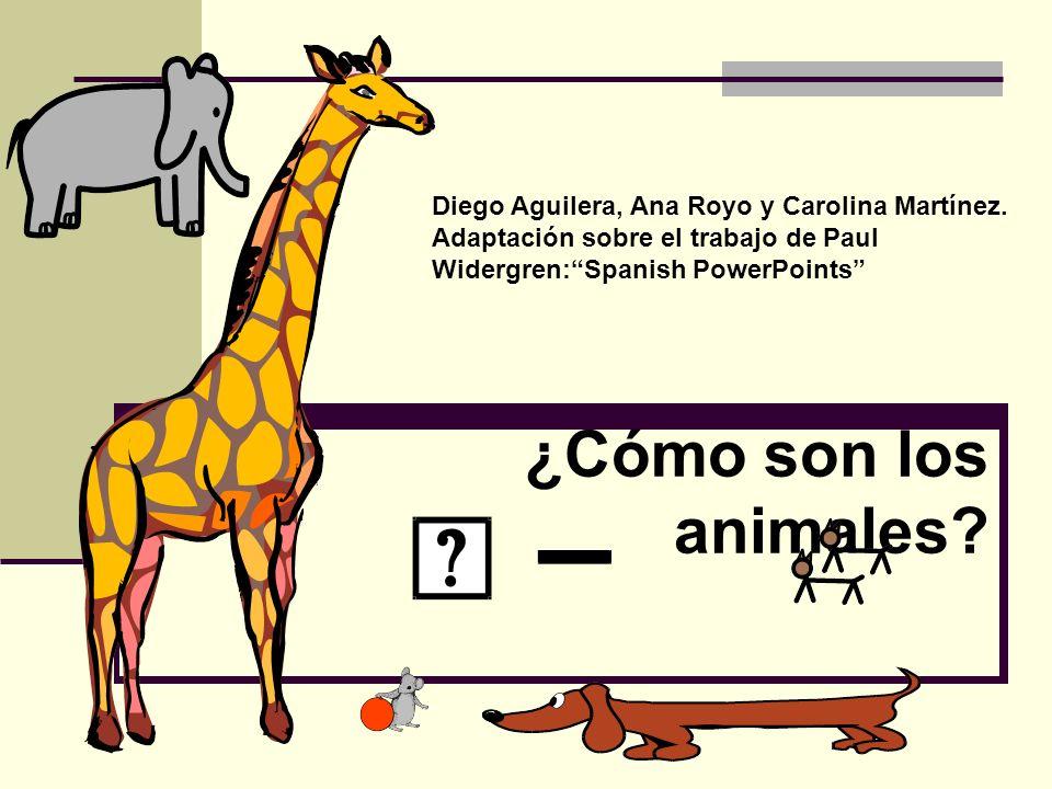¿Cómo son los animales? Diego Aguilera, Ana Royo y Carolina Martínez. Adaptación sobre el trabajo de Paul Widergren:Spanish PowerPoints