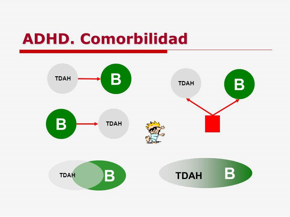 ADHD. Comorbilidad B TDAH B B B TDAH B