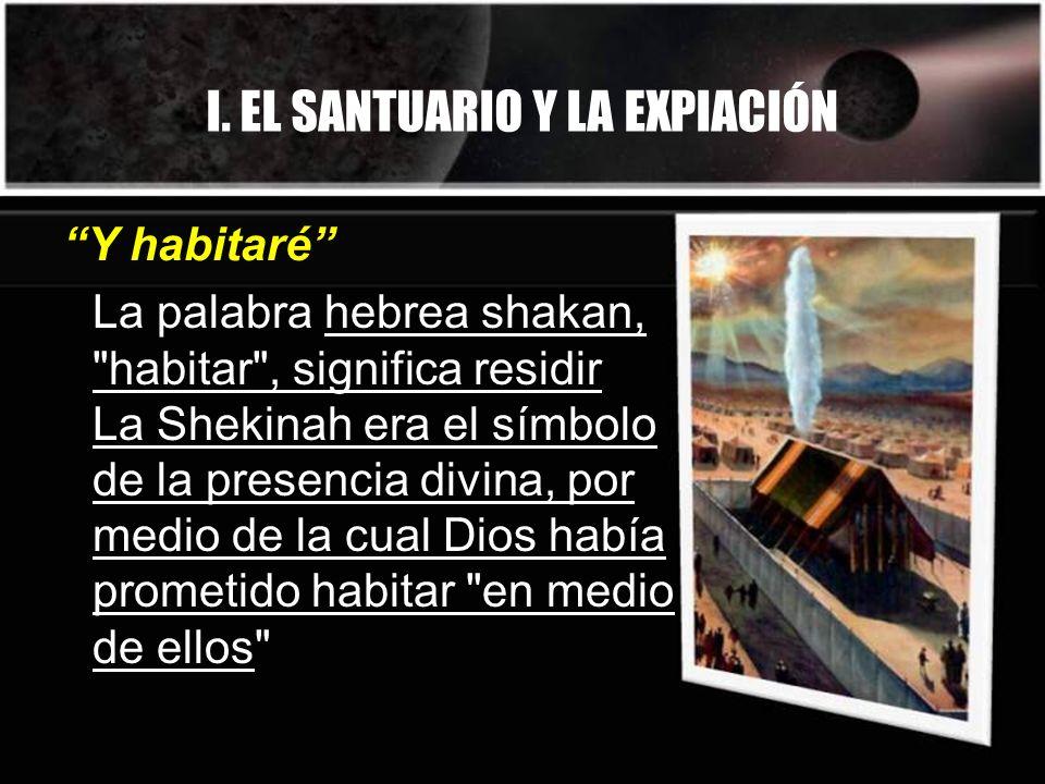 I. EL SANTUARIO Y LA EXPIACIÓN La palabra hebrea shakan,