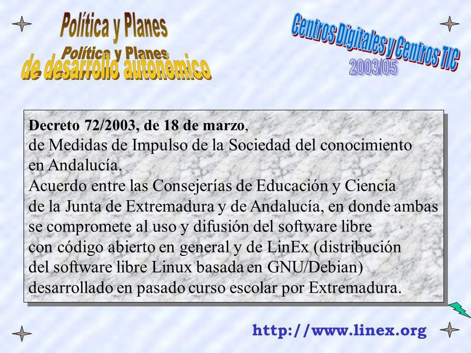 Decreto 72/2003, de 18 de marzo, de Medidas de Impulso de la Sociedad del conocimiento en Andalucía.