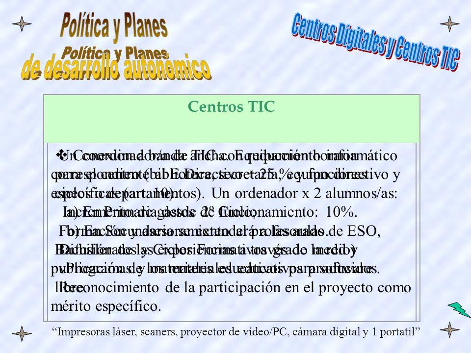 Centros TIC Conexion a banda ancha.