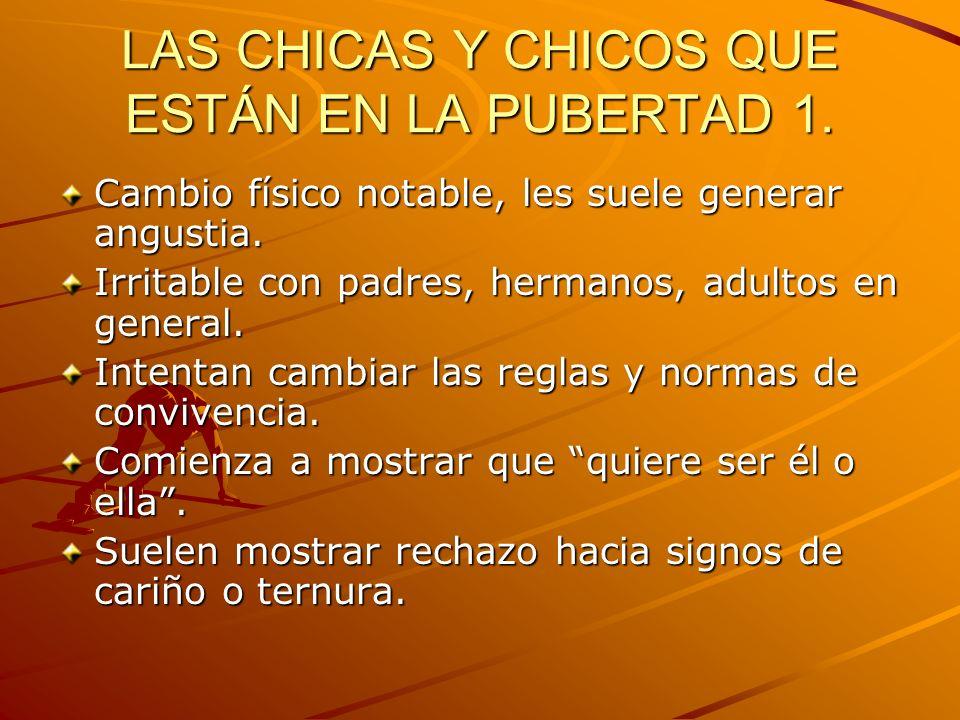 LOS CHICOS Y CHICAS QUE ESTÁN EN LA PUBERTAD 2.