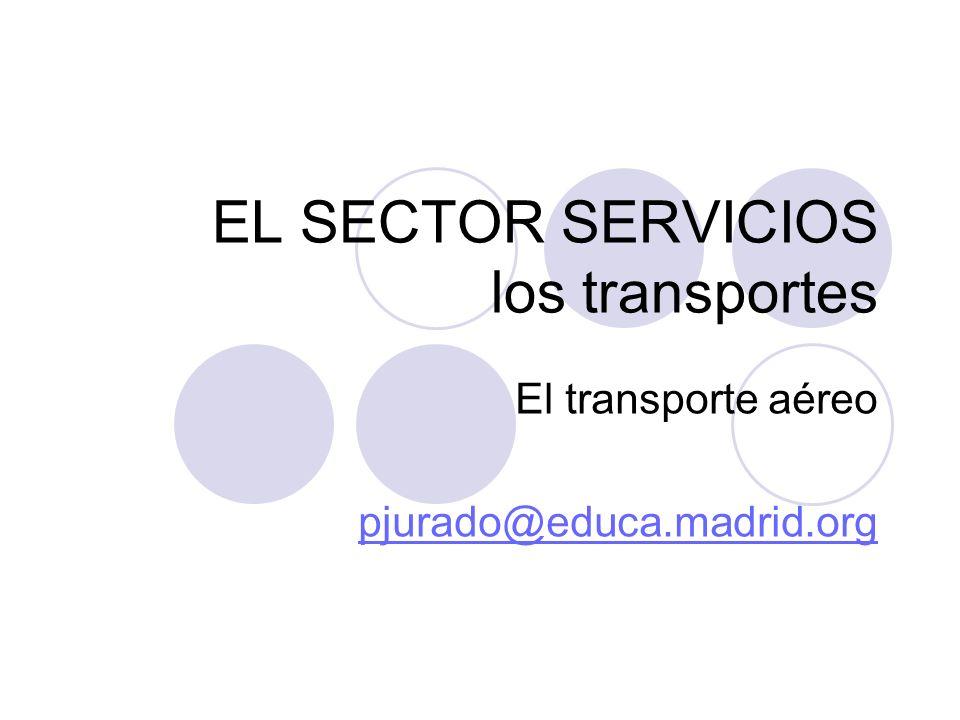 EL SECTOR SERVICIOS los transportes El transporte aéreo pjurado@educa.madrid.org