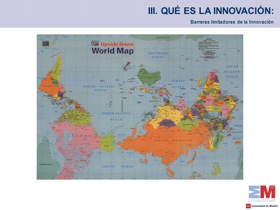 III. QUÉ ES LA INNOVACIÓN: Barreras limitadoras de la Innovación
