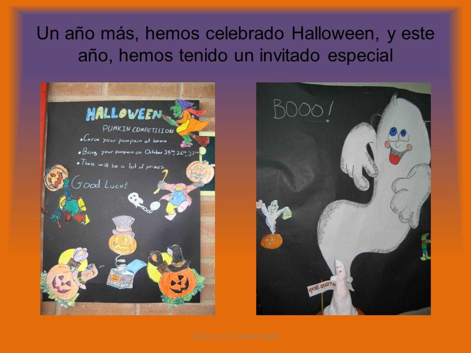 Un año más, hemos celebrado Halloween, y este año, hemos tenido un invitado especial 2010-1-ES1-COM06-20382