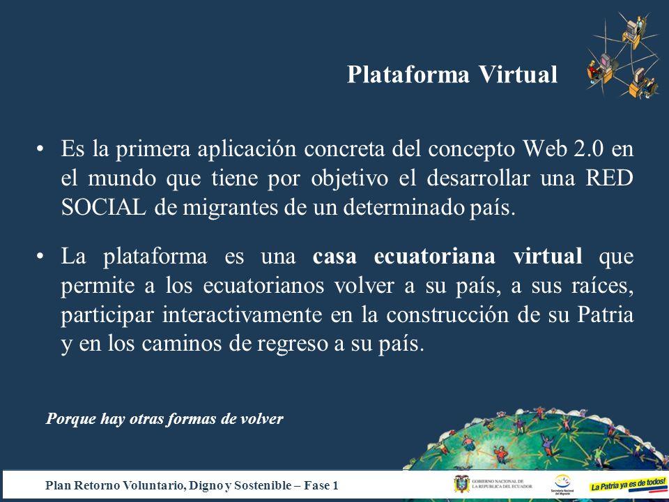 Es la primera aplicación concreta del concepto Web 2.0 en el mundo que tiene por objetivo el desarrollar una RED SOCIAL de migrantes de un determinado