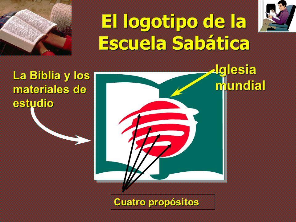 El logotipo de la Escuela Sabática La Biblia y los materiales de estudio Iglesia mundial Cuatro propósitos
