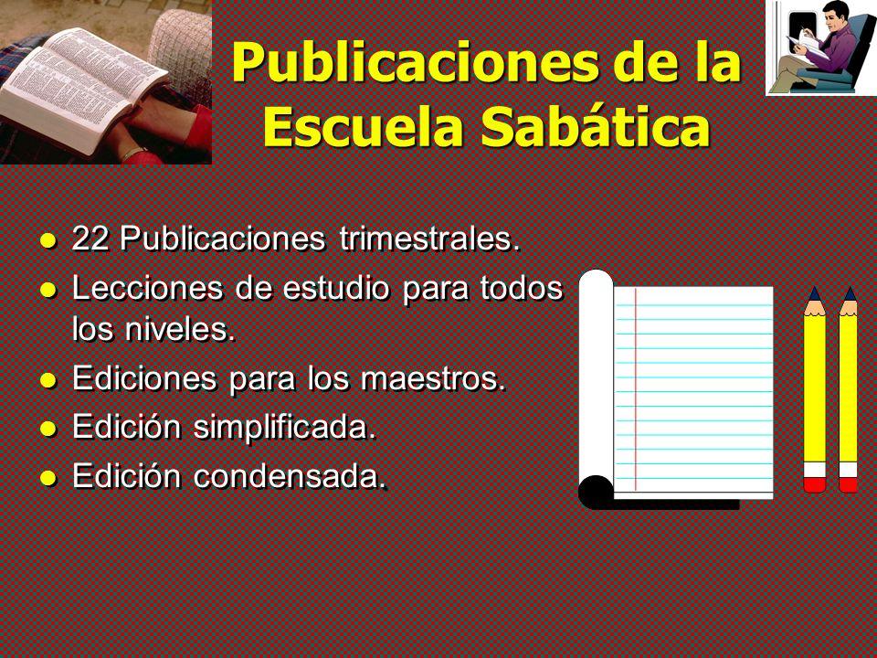Publicaciones de la Escuela Sabática v Para todos los niveles v Maestros v Alumnos Lecciones para el estudio de la Biblia