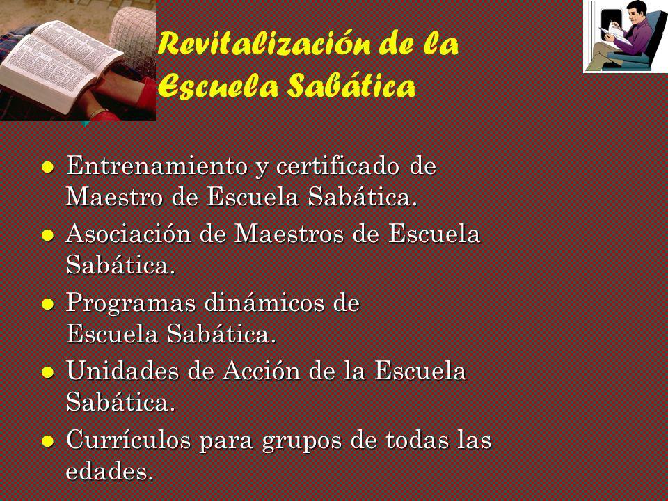 Entrenamiento y certificado de Maestro de Escuela Sabática.