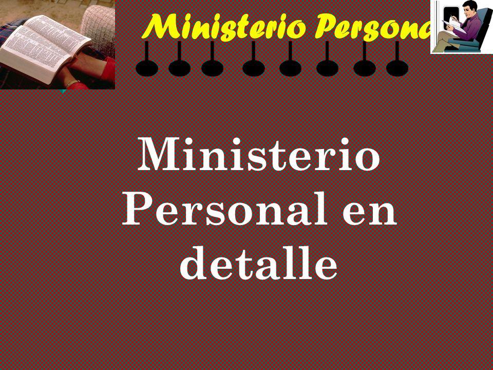 Ministerio Personal Ministerio Personal en detalle