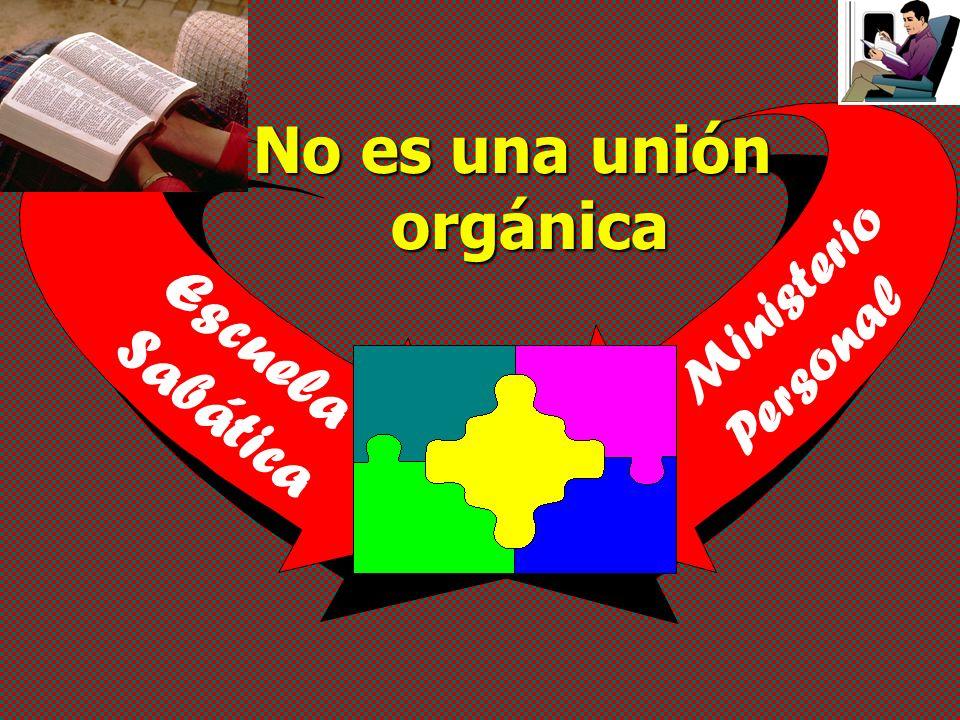 Escuela Sabática Ministerio Personal No es una unión orgánica