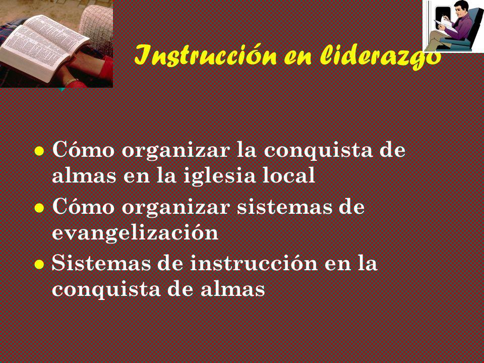 Cómo organizar la conquista de almas en la iglesia local Cómo organizar sistemas de evangelización Sistemas de instrucción en la conquista de almas Instrucción en liderazgo