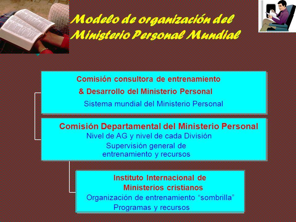 Ministerio Personal Equipando y movilizando miembros para cumplir la misión mundial de la iglesia ¿Cuál es la manera más eficaz de organizar el depart