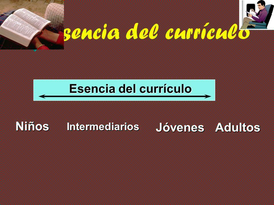 Esencia del currículo Niños Jóvenes Adultos Intermediarios