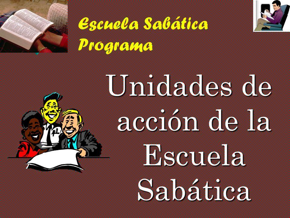 Escuela Sabática Programa - Modificado v Use el sistema de pequeños grupos durante el programa. v Tiempo para la oración intercesora. v Presente algun