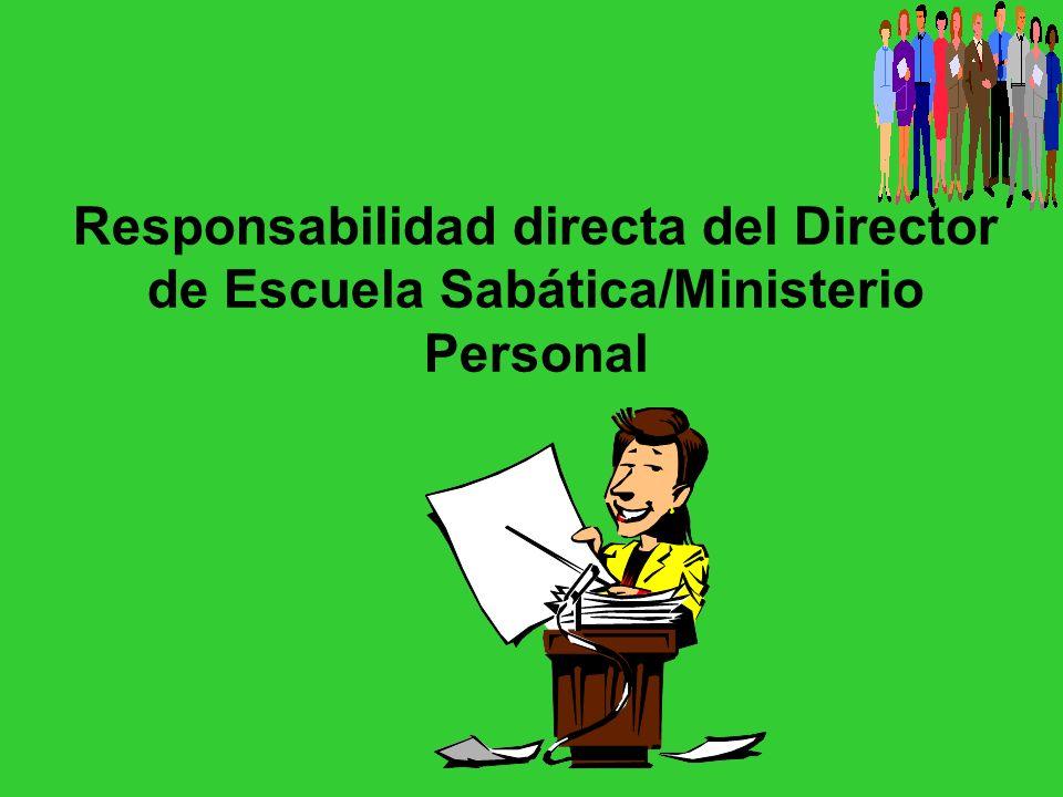 Relación con los pastores El director de ES/MP y el pastor se necesitan mutuamente.