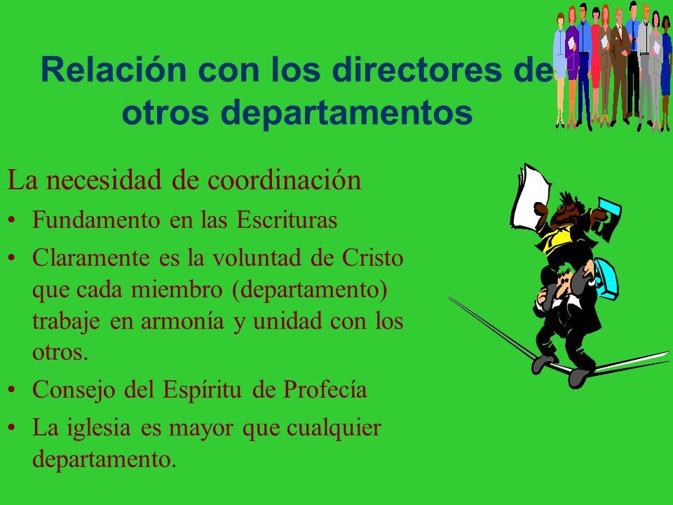 Continuando relaciones Procedimiento de pedir ayuda del campo Elección de los directores Elección del director de la asociación/misión Factores en bue