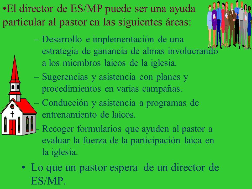 Relación con los pastores El director de ES/MP y el pastor se necesitan mutuamente. –Debería existir una buena relación. –Deberían volverse amigos. –E